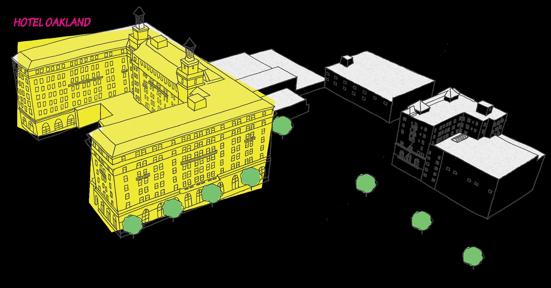 Hotel Oakland Map